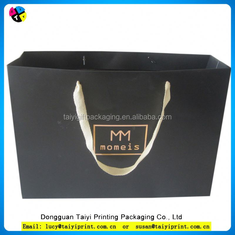 Recyclable decoration custom shopping paper bag with led light