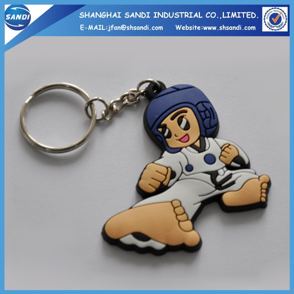 Promotional custom rubber soft pvc keychain