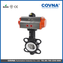 cast iron body ptfe sealing pneumatic operated butterfly valve with factory price