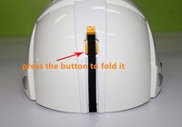 Best Selling Industrial Protection Earthquake Standard Safe Folding Foldable Safety Helmet With Chin Strap