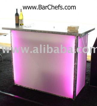 57'' Portable lighted cocktail bar