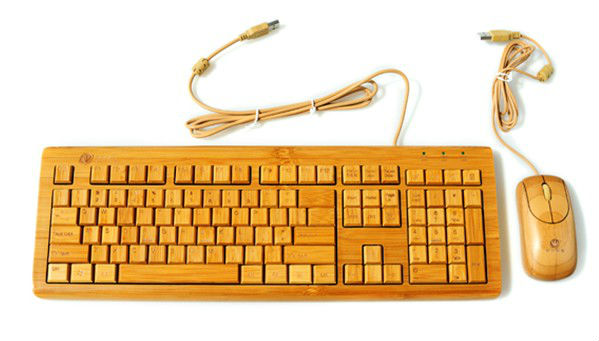 EG-KBM-004 Wired Bamboo USB keyboard and mouse set