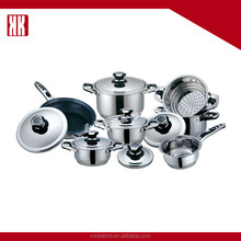13PCS Thermometer Stainless Steel Cookware Set