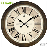 24 inch wooden custom print large wall clock (24W46GL-170)