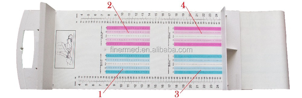 Infant baby height measurement ruler