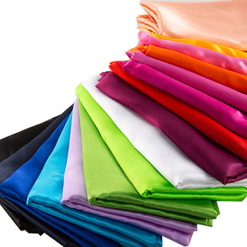 Quick shipping 80gsm soft smooth shiny polyester satin fabric for lining