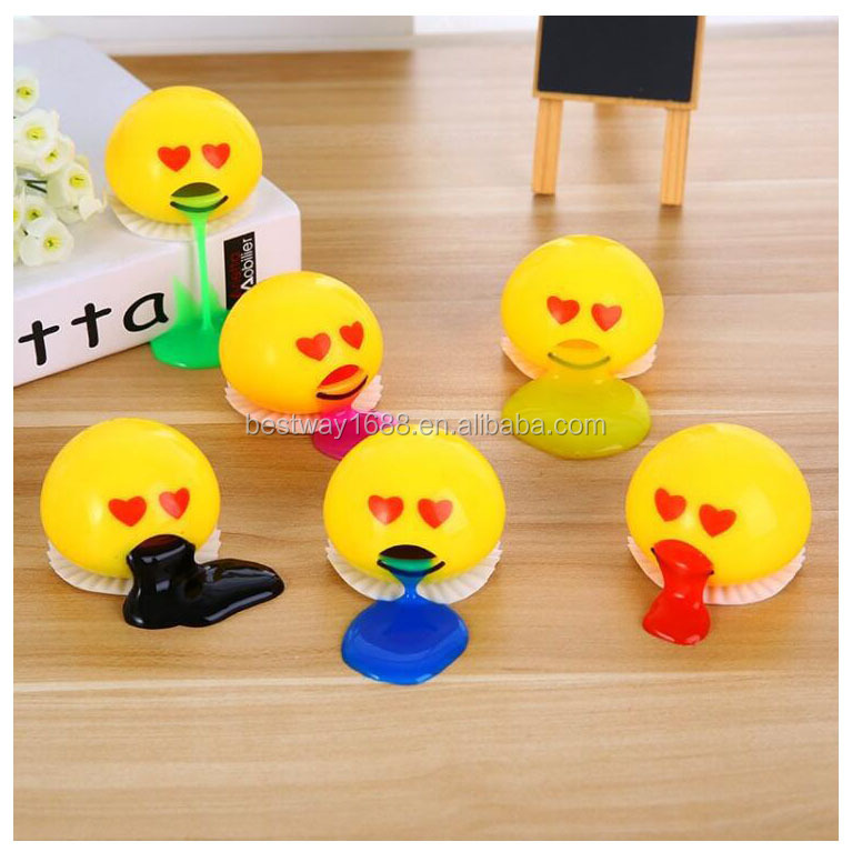 Factory Supplier Novelty Squeeze <strong>Toy</strong> Funny Tricky <strong>Toys</strong> Yellow Vomit Eggs Lazy Egg Balls