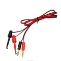 1 Pair 4mm Gold Plated Banana Plug to Test Hook Clip 1M Lead Cable Mayitr For Multimeter Test Tools