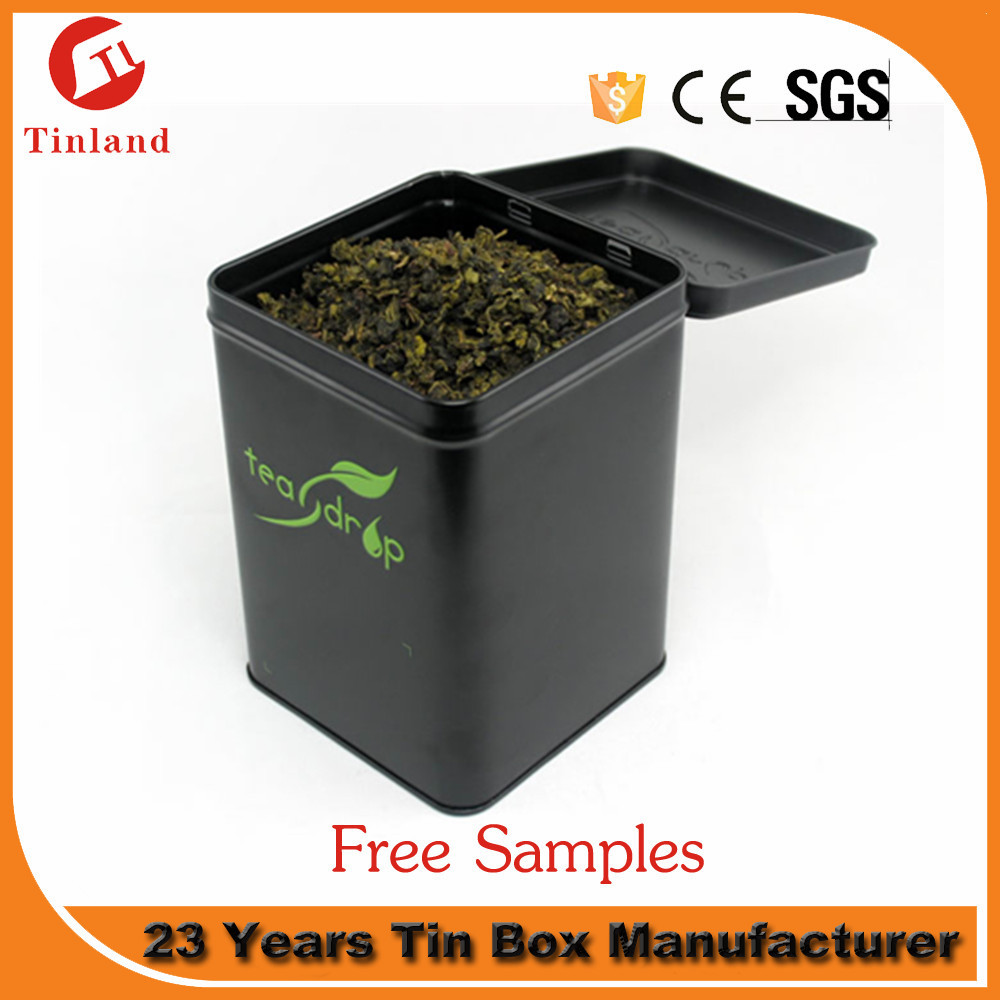 Tin Box For Tea Packaging Blank Square Tea Tin Can