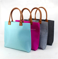 Cheap dyed felt bag with heart/diy felt bag/felt shopping bag