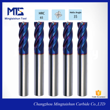 Tungsten Carbide End Mill 8mm/HRC 45 Coated Tialn 4 Flute Corner Radius Cutting Tools