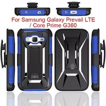 Defender Hard Holster Kickstand Combo Armor Box With Belt Clip Case Cover For Samsung G360