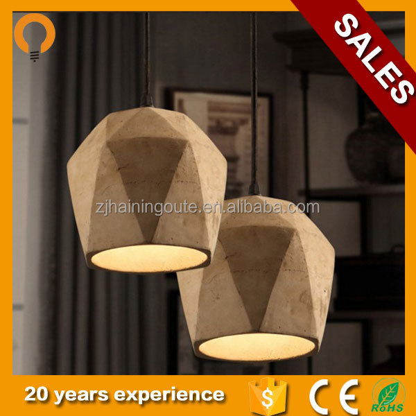 Natural feature cement /concrete lamp shade with light designed for home pendant ceiling lamp and wall decor