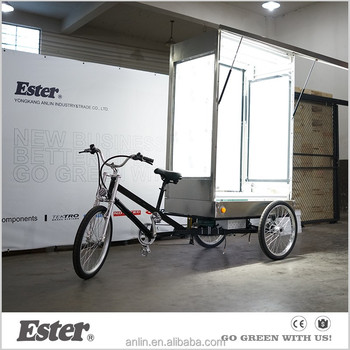 500w electric ESTER outdoor advertising bicycle with three side LED billboard