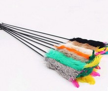 Feather Funny Cat Kitten Toy Tiggerling tickerling Tickle Stick Dangling Fur Toy