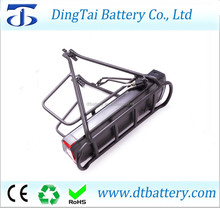 Crystalyte 36V 17AH electric bike batteries with black carrier and charger