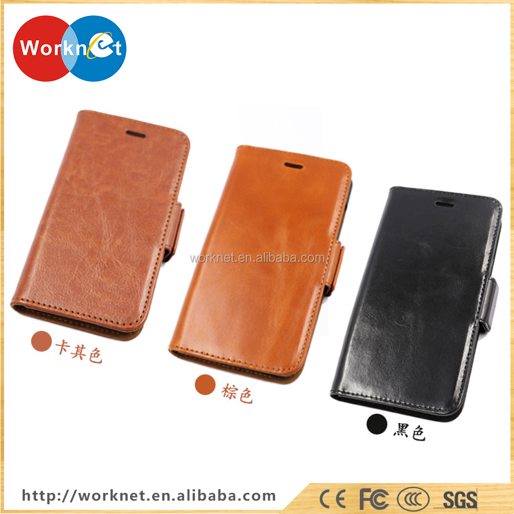 Worknet 2017 new design flip leather case for iPhone X , for iPhone X case leather 3 colors availale