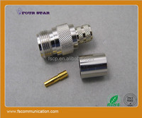 RF female crimp n type for LMR400 cable connector