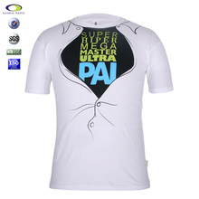 Custom Pattern Slim Fit Peruvian Cotton T Shirt With Printing