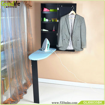 Wall mount foldable Ironing board storage cabinet