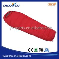 Super quality hot selling 3 season envelope sleeping bag with hood