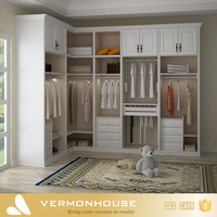 2018 Hangzhou Vermont Modern Design Louvered Sliding Closet Doors Modular Wardrobe With Dressing Table