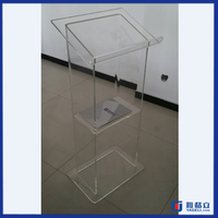 High quality customized acrylic lectern for church pulpit / high quality acrylic church lectern podium