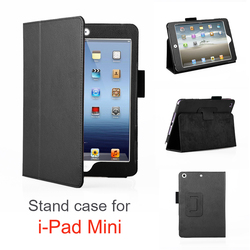 Wholesale Black Tan Leather case For Ipad mini Tablet Case,high quality Tablet cover