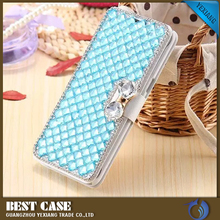 Wholesales Luxury Cell Phone Case For samsung galaxy s3 s4 s5 Fashion Diamond Lattice Leather Cell Case Cover