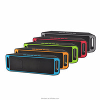 Portable SC208 bluetooth 4.0 wireless speaker Mini TF USB built-in mic dual speaker bass sound speakers