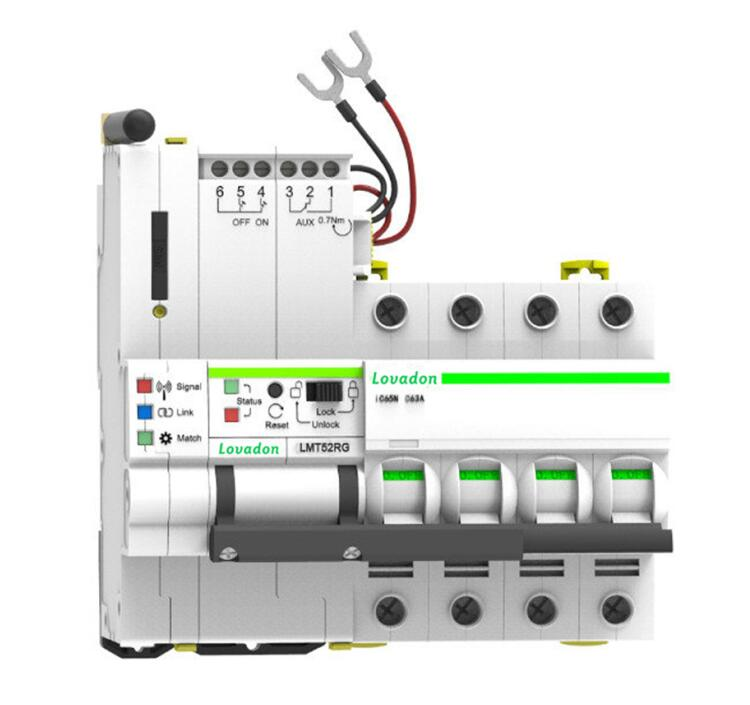 Autoreset 4 Poles GPRS Smart Wifi Circuit Breaker That Can be Monitered And Controlled by APP Both iOS and Android