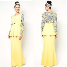 Fashionable latest design modern kebaya dress 2014 design baju kurung