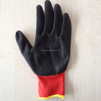 factory prices heat resistance latex coated contton knitted safety rubber grip palm gloves