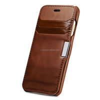 Wholesale price noble brown Card slots heat press leather phone case for iphone 6/6s