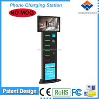 Winnsen coin/note/card operated Cell station, vending cell phone charging box for restaurant, mobile phone lockers APC-06A