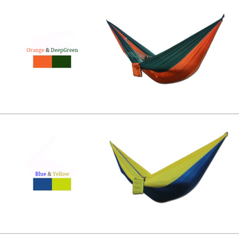 270*140cm Hot sale 2019 hammock single and double parachute outdoor hammock for camping