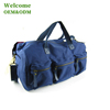 Fashion leisure canvas travelling bag with shouder and tote for packaging