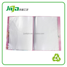 A4 PP clear transparent display pocket file presentation clear book