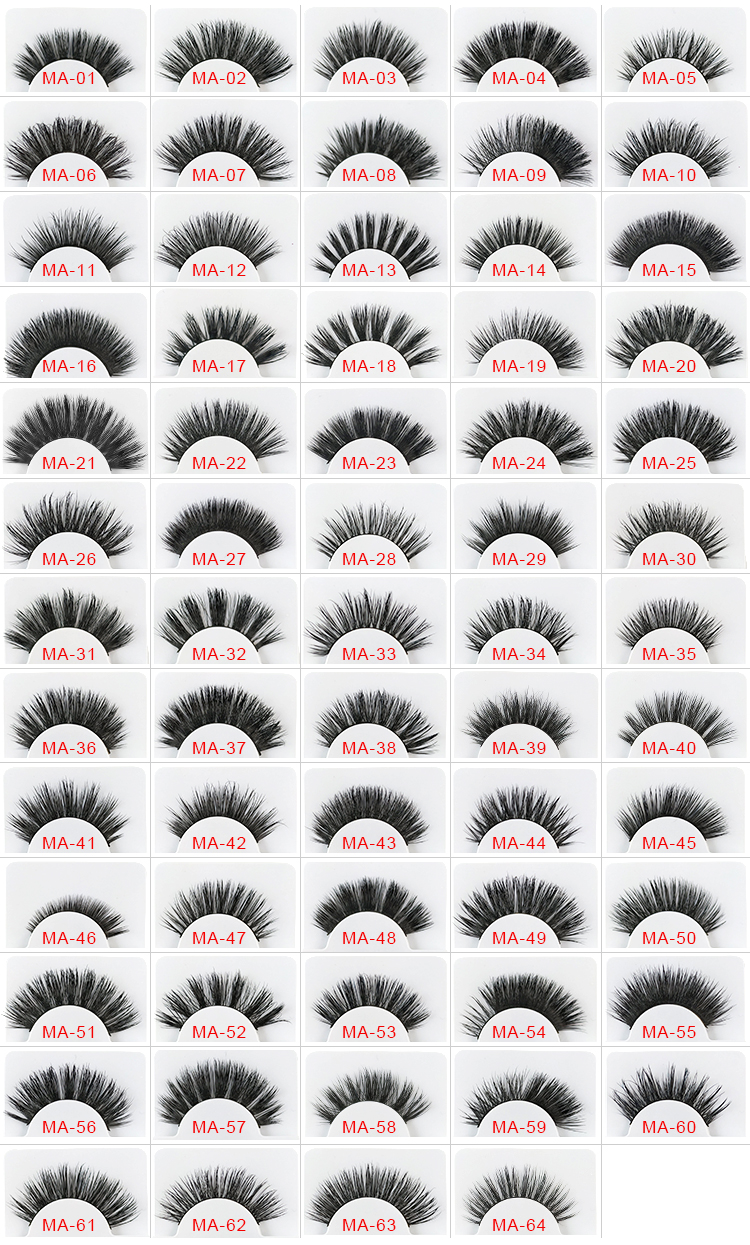 Clear Drawer box private label best quality  cheap price  mink hair eyelashes with custom logo 3d mink lashes