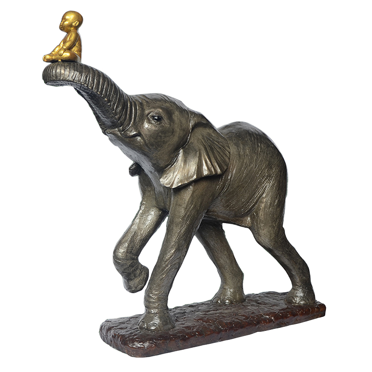 Gallery decoration bronze sculpture elephant crafts and arts