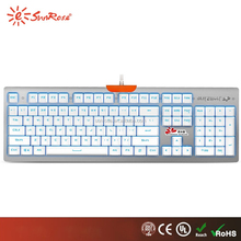 hot sell colorful LED backlit usb wired mechanical gaming keyboard