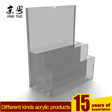 3 Pocket Clear Magazine Literature Holder Document&File Organizer Rack,Wall Mounted Acrylic