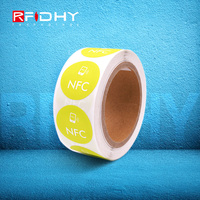 High quality and low price RFID NFC tag label sticker For Smartphone Samsung ,THC ,Sony