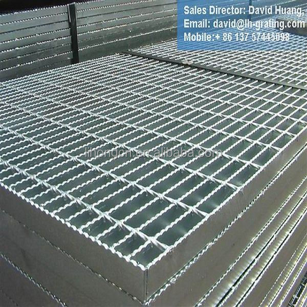 hot dip galvanized <strong>steel</strong> grating specification, galvanized grating size, grating standard