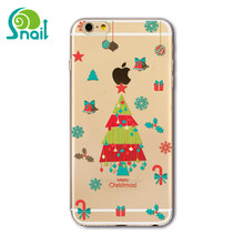 2018 hot sale transparency christmas pattern cell phone case and cover for iPhone 6 6s 7 8 plus