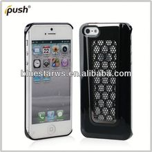 For iphone 5 hybrid case Newly PC+Metal Case Fits For iPhone5