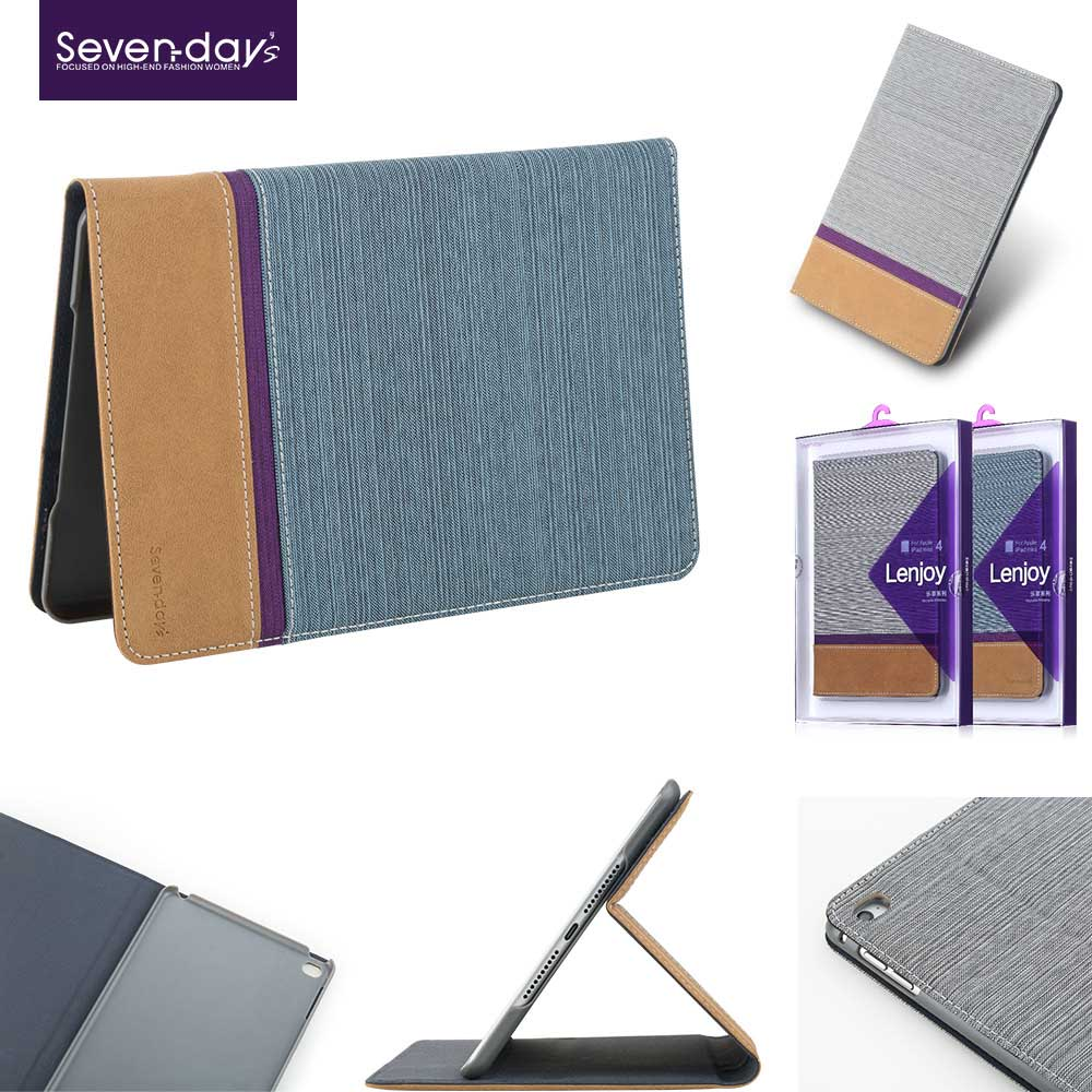 Soft touch coating leather smart cover cases for iPad Air 2