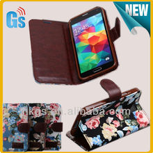 Korea Cellphone Leather Wallet Case For Samsung Galaxy S5 S V I9600