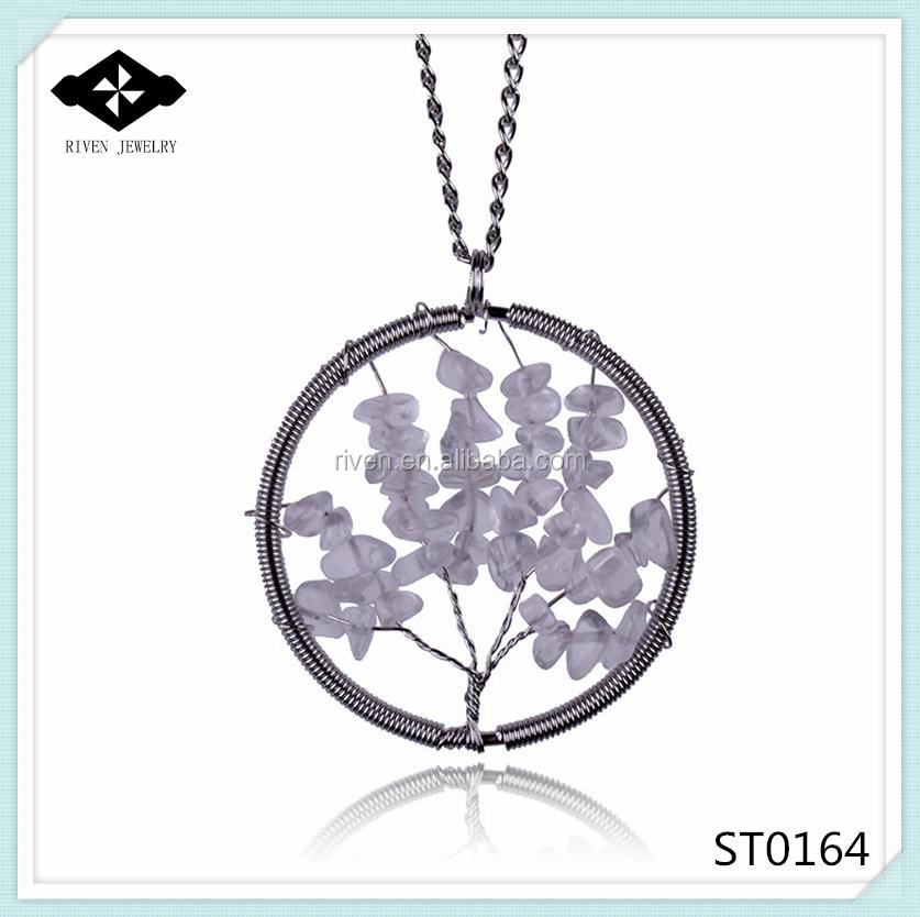 ST0164 Pure Handmade Tree of life Natural amethyst pendant necklace.jpg