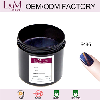 L&M Factory Wholesale Chameleon Color Cat Eye Gel Nail Polish